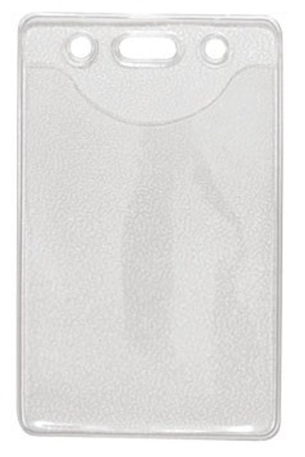 """1815-1100 Clear Vinyl Vertical Badge Holder with Slot and Chain Holes, 2.3"""" x 3.38"""" (100/pk)"""
