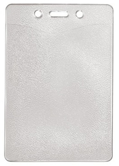 """1815-1300 Clear Vinyl Vertical Badge Holder with Slot and Chain Holes, 2.8"""" x 4"""" (100/pk)"""
