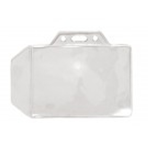 "1840-1000 Clear Vinyl Horizontal Badge Holder with Tuck-In Flap, 3.4"" x 2.4"" (100/pk)"