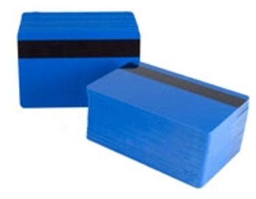 830BLGQHC100 PVC Hospital Blue HiCo Magnetic Stripe Card (500/pkg)