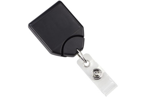Black B-REEL™ Badge Reel with swivel-clip with teeth (25/pk)