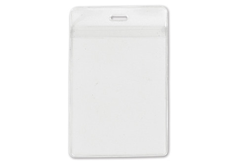 "Clear Vinyl Vertical Holder with Front and Back Pockets, 3"" x 4.25"" (100/pk)"