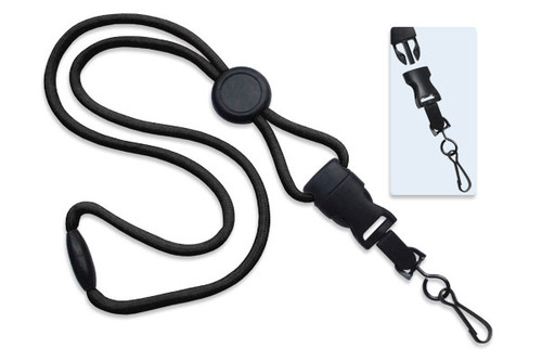 "1/4"" (6 mm) Lanyard with Round Slider & DTACH Swivel Hook (100/pk)"