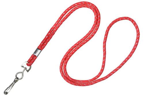 "1/8"" Red & Silver Metallic Lanyard with Swivel-Hook (100/pk)"