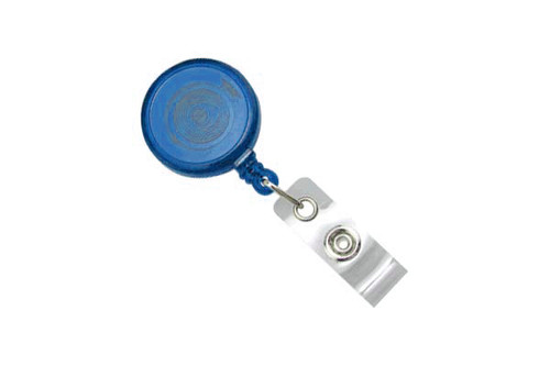 Translucent Blue Round Max Label Reel With Strap And Slide Clip (25/pk)
