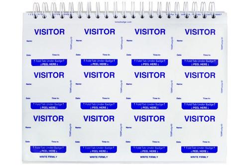 TEMPbadge™ Visitor Badge Log Book (240 Badges)