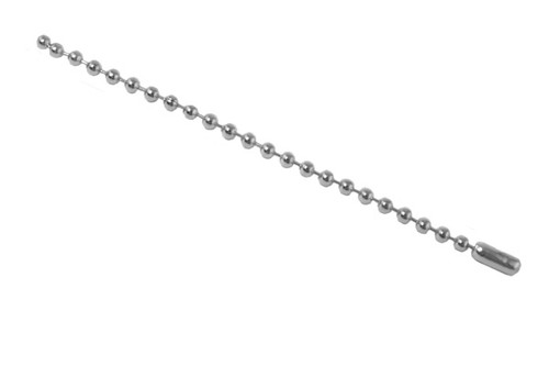 """Nickel-Plated Steel Ball Chain, 4"""", No 3 Bead Size (1000/pk)"""