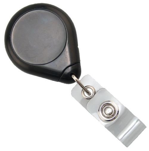 Black Premium Badge Reel With Strap And Swivel Clip (25/pk)