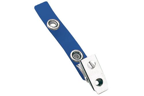 2105-2002 Blue 2-Hole Colored Strap Clip (100/pk)