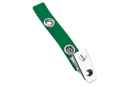 2105-2004 Green 2-Hole Colored Strap Clip (100/pk)