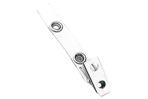 2105-2008 White 2-Hole Colored Strap Clip (100/pk)