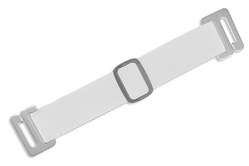 1840-7208 White Adjustable Elastic Arm Band Strap (100/pk)