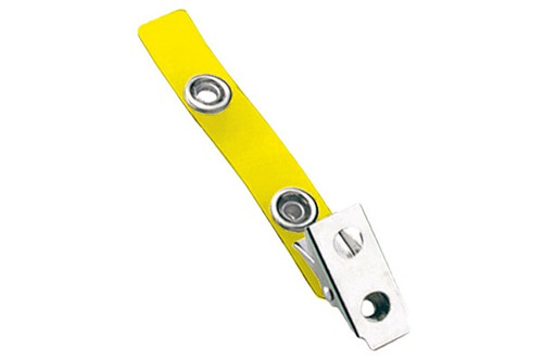 2105-2009 Yellow 2-Hole Colored Strap Clip (100/pk)