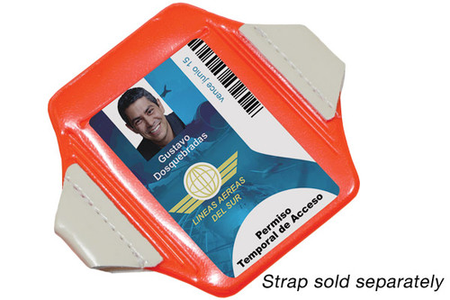 "1840-7321 Neon Orange Vertical Arm Band Badge Holder, 2.38"" x 3.38"" (100/pk)"