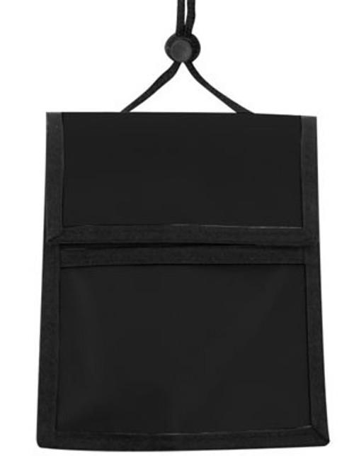 1860-3001 Black Nylon Multi-Pocket Credential Wallet with Neck Cord (25.pk)