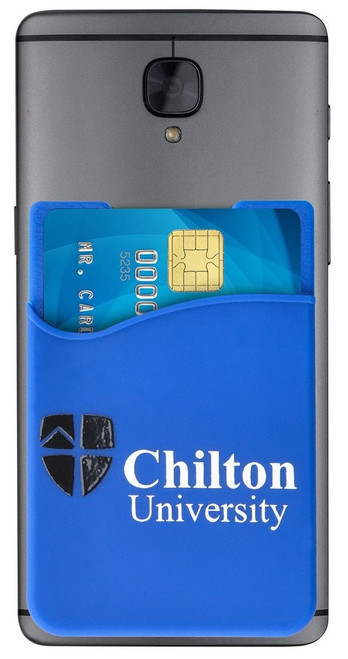 1860-5003 Blue Silicone Cell Phone Wallet (100/pk)