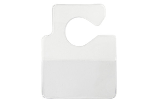 "1840-3550 Clear Vinyl Horizontal Large Cut-Out Hangtag Holder, 3.75"" x 2.00"" (100/pk)"