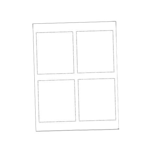 "3934-0200 Printable Paper Inserts for Large Event Badge Holders, 4.25"" x 3.75"" (200 Inserts)"