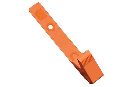 Orange Plastic Strap Clip with Knurled Thumb-Grip (pack of 100)