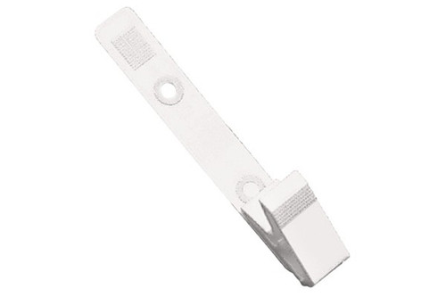 White Plastic Strap Clip with Knurled Thumb-Grip (pack of 100)