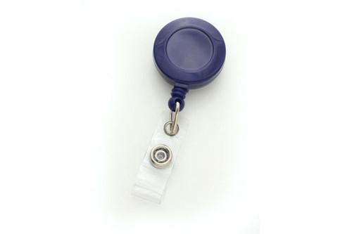 Royal Blue Badge Reel with Clear Vinyl Strap & Belt Clip (25/pk)