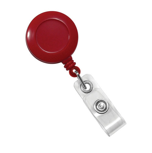 Red Badge Reel with Clear Vinyl Strap & Belt Clip (25/pk)