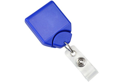 Metallic Blue B-REEL™ Badge Reel with swivel-clip with teeth (25/pk)