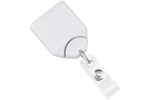 White B-REEL™ Badge Reel with swivel-clip (25/pk)