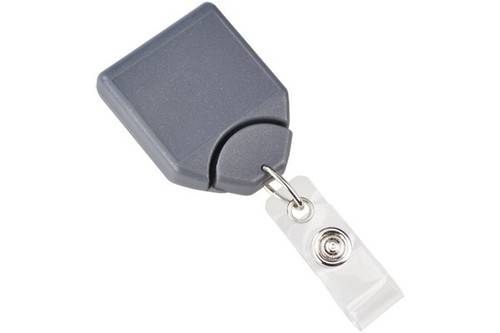 Metallic Gray B-REEL™ Badge Reel with swivel-clip (25/pk)