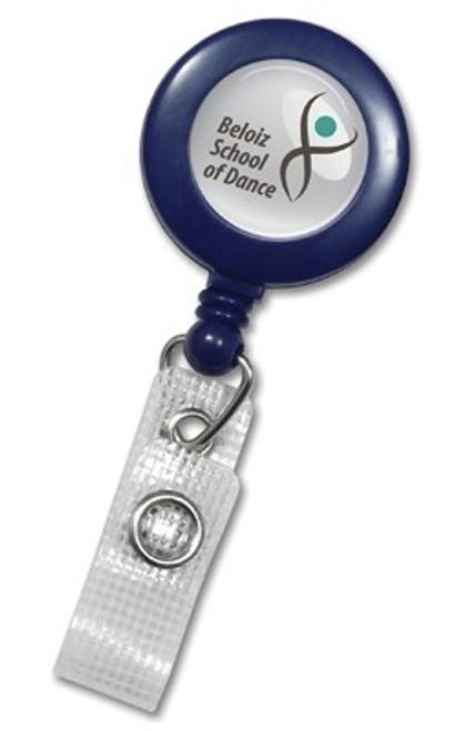 Blue Badge Reel with Reinforced Vinyl Strap & Belt Clip (25/pk)