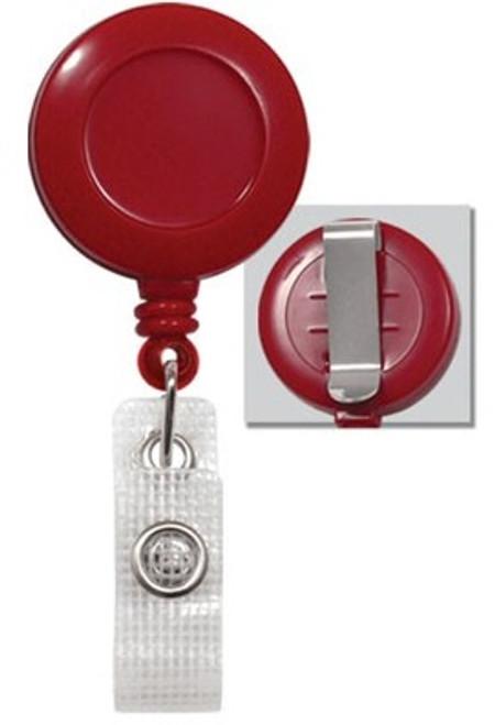 Red Badge Reel with Reinforced Vinyl Strap & Belt Clip (25/pk)