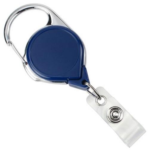 Royal Blue Carabiner Badge Reel With Strap (25/pk)