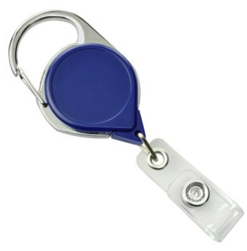 Royal Blue Carabiner Badge Reel with Strap and Clip (25/pk)
