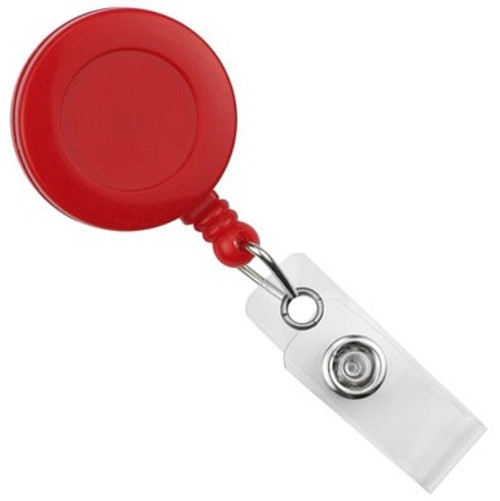 Red Round Badge Reel With Strap And Swivel Clip (25/pk)
