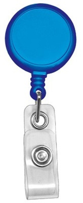 Royal Blue Round Max Label Reel With Strap And Slide Clip (25/pk)