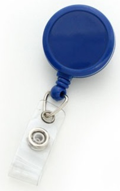 Royal Blue Round Max Label Reel With Strap & Swivel Clip (25/pk)