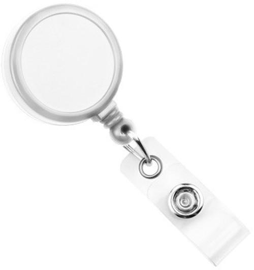 White Round Max Label Reel With Strap & Swivel Clip (25/pk)