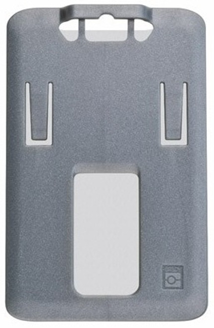 B-Holder Metallic Gray Rigid Plastic Vertical Holder (50/pk)