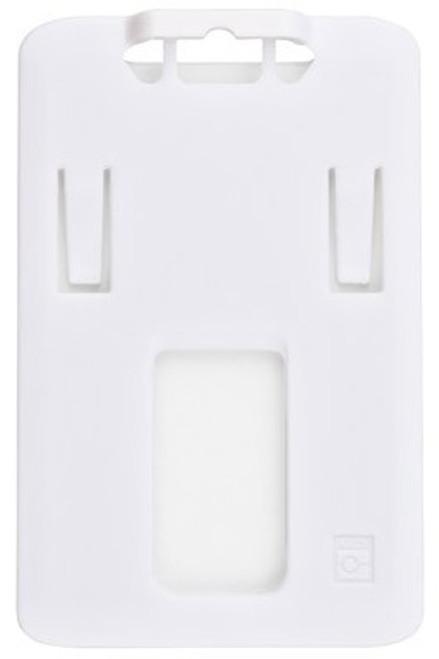 B-Holder White Rigid Plastic Vertical Holder (50/pk)