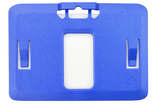 B-Holder Metallic Blue Rigid Plastic Horizontal Holder (50/pk)