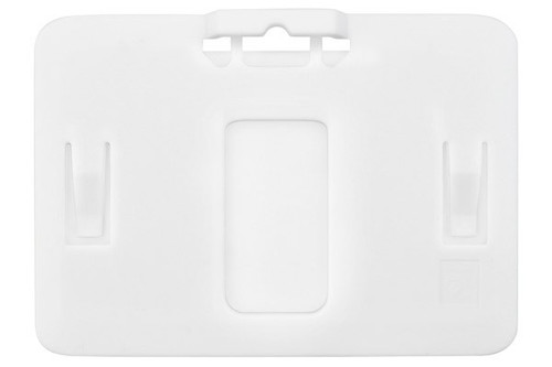 B-Holder White Rigid Plastic Horizontal Holder (50/pk)