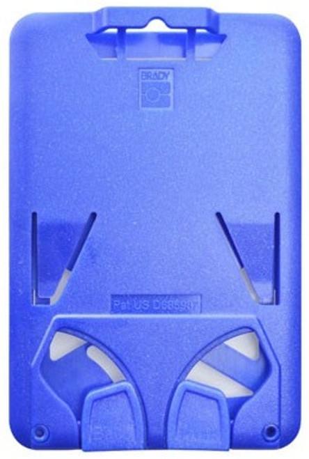 B-Holder Metallic Blue 3-Card Rigid Plastic Vertical Holder (50/pk)