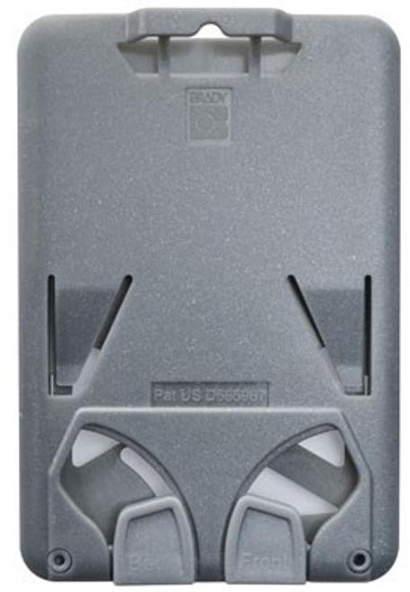 B-Holder Metallic Gray 3-Card Rigid Plastic Vertical Holder (50/pk)