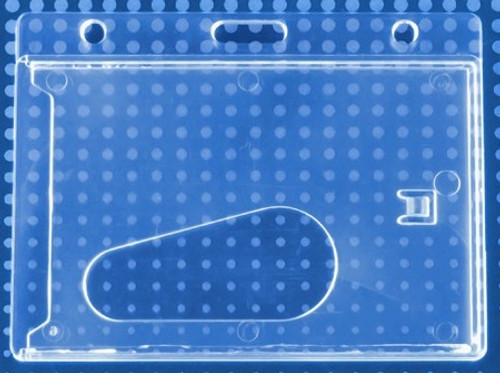 Economy Crystal Clear Horizontal Side-Load Card Dispenser (50/pk)