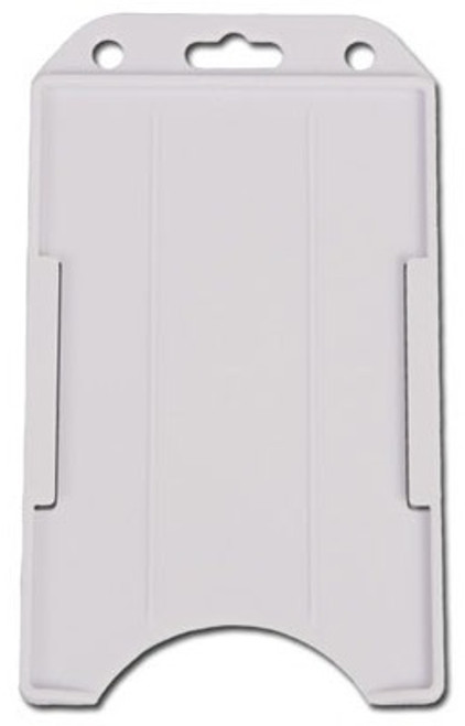 White Rigid Plastic Vertical Open-Face Card Holder (50/pk)