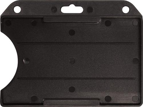 Black Rigid Plastic Horizontal Open-Face Card Holder (50/pk)