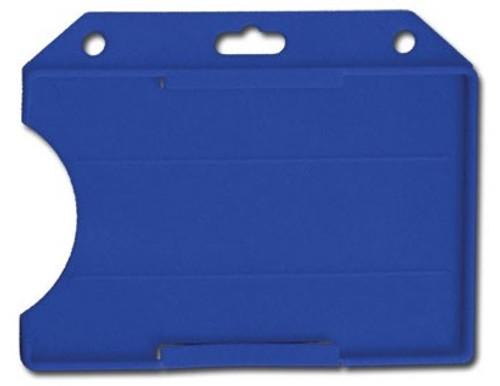 Blue Rigid Plastic Horizontal Open-Face Card Holder (50/pk)