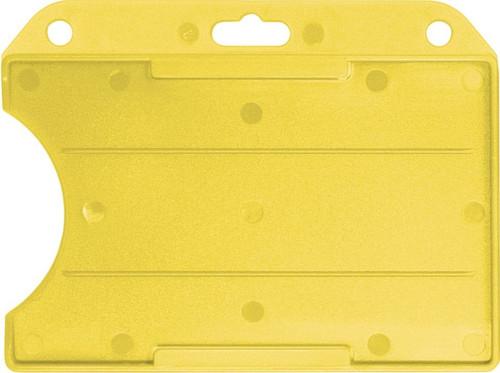 Yellow Rigid Plastic Horizontal Open-Face Card Holder (50/pk)