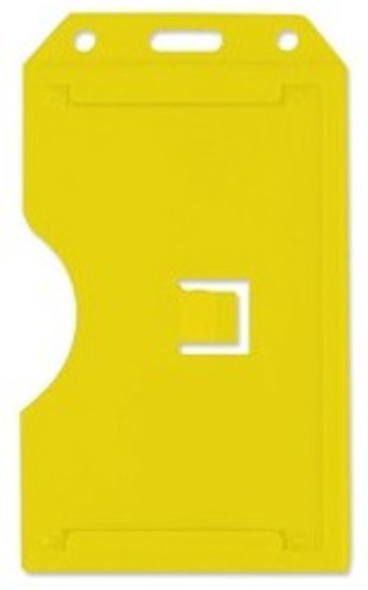 Yellow Vertical Rigid Plastic 2-Sided Multi-Card Holder (50/pk)