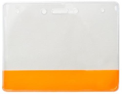 Vinyl Holder with Translucent Orange  Colored Bar (100/pk)